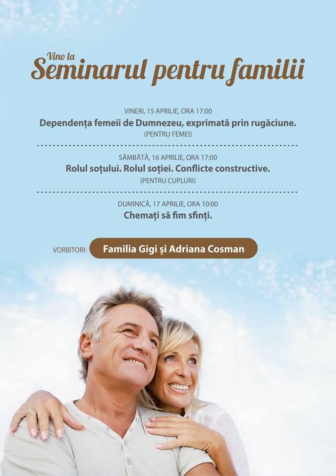 Seminarul pentru familii susținut de Gigi și Adriana Cosman în Biserica Antiohia