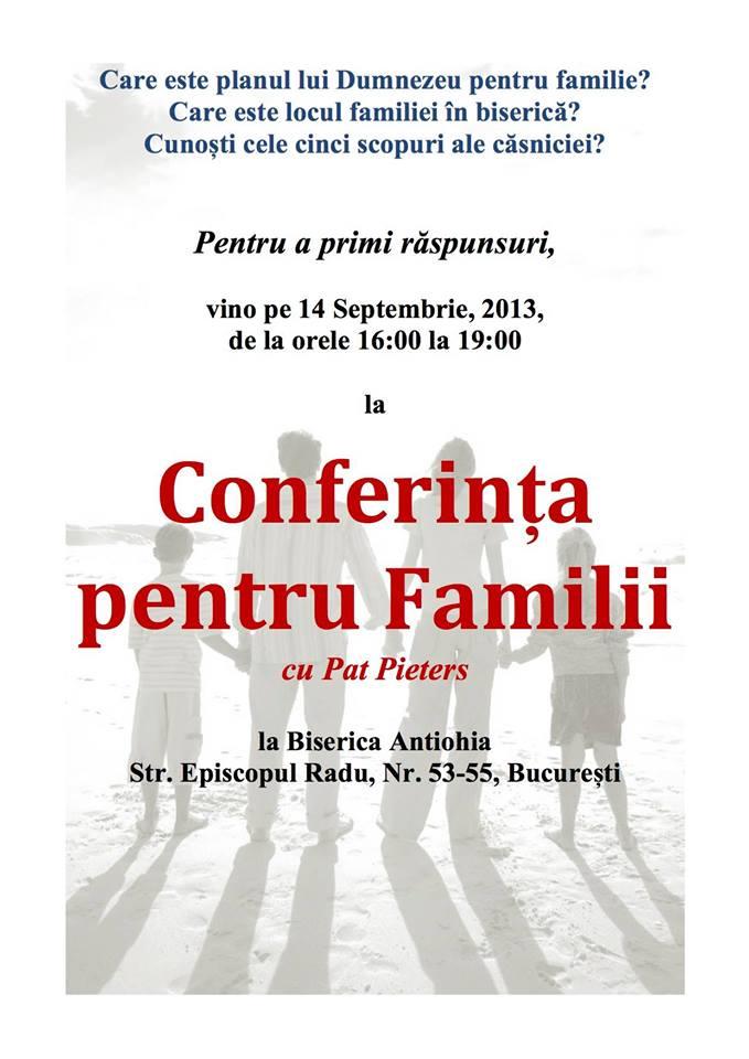 conferinta pentru familii biserica antiohia conferentiar pat pieters