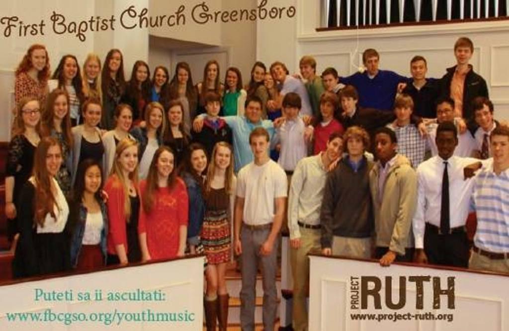 Concert de Florii al Corului de tineri baptiști FBC Greensboro la Biserica Antiohia