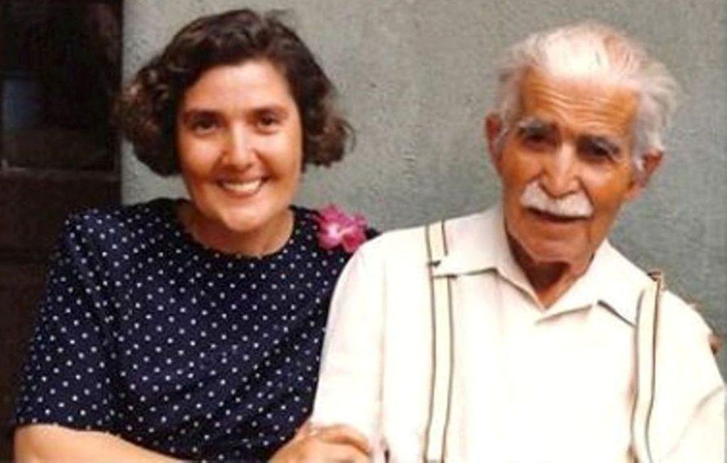 FRATELE MARIN IONESCU (1915-1993) IMPREUNA CU FIICA MAGDALENA