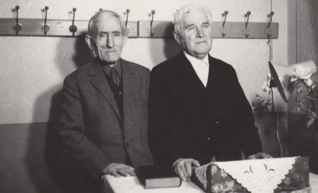 FLOREA MOISESCU (1891-1979) SI DUMITRU TIȚĂ LA CRAIOVA IN IANUARIE 1976