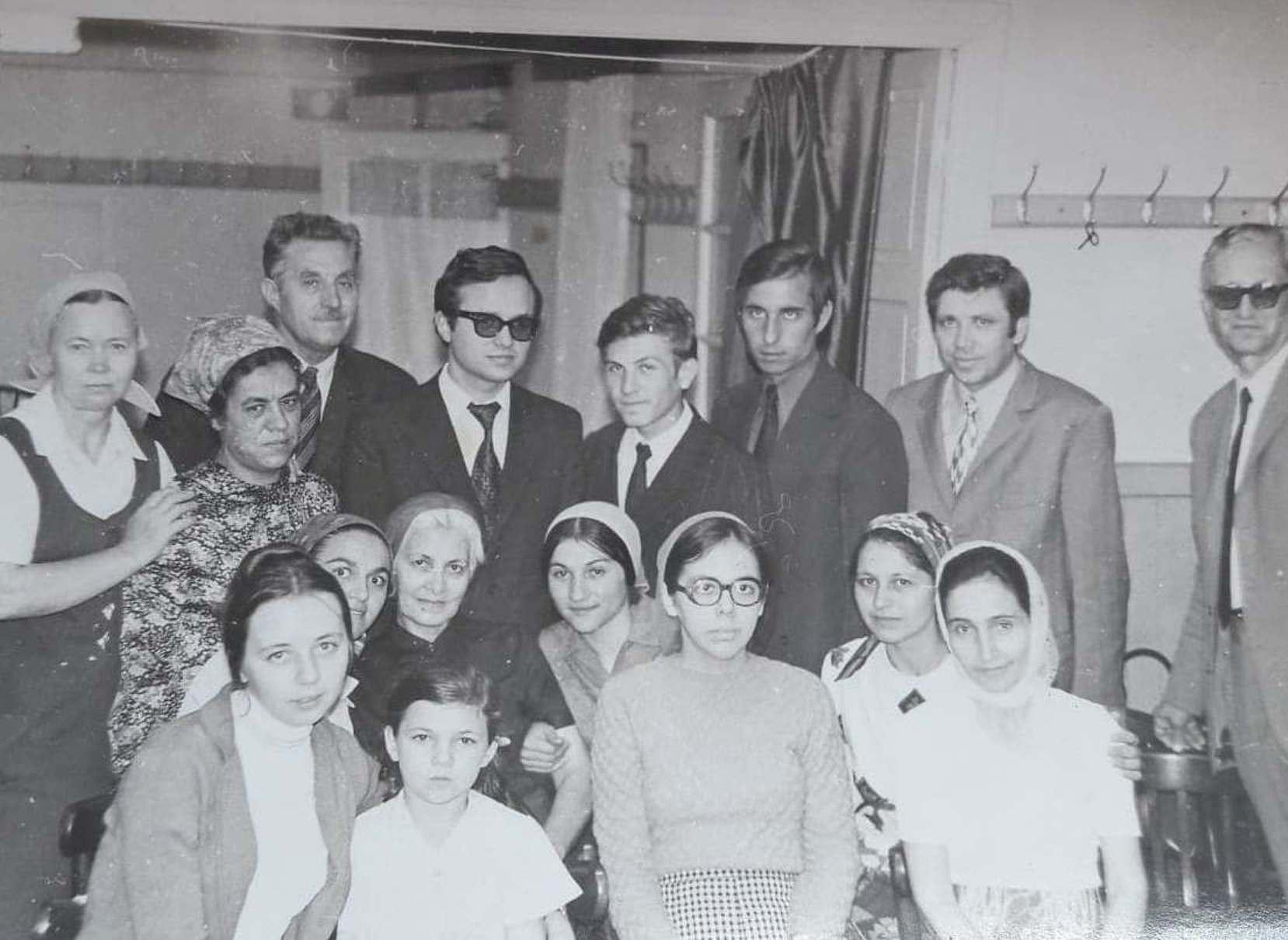 CREDINCIOSI BOTEZATI IN ZIUA DE 30 MAI 1976 IN BISERICA CRESTINA DUPA EVANGHELIE DRAGOS VODA BUCURESTI