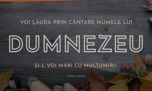 SĂRBĂTOAREA MULȚUMIRII – 10 NOIEMBRIE 2019