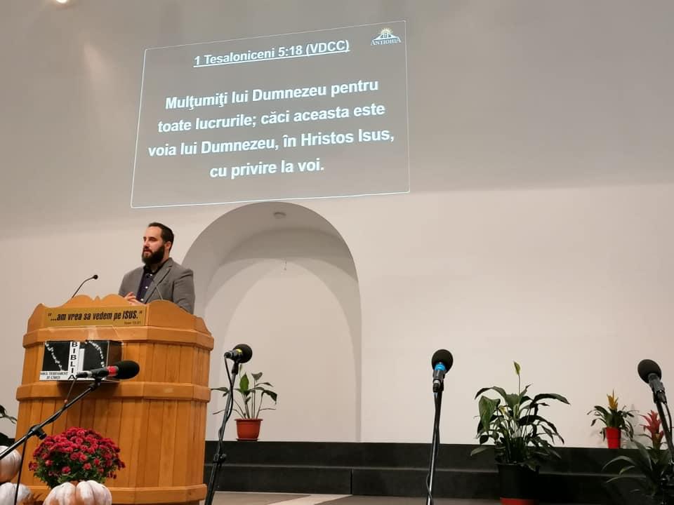 MIHAI CIOPASIU JUNIOR PREDICA LA SARBATOAREA MULTUMIRII - BISERICA ANTIOHIA BUCURESTI - 10 NOIEMBRIE 2019