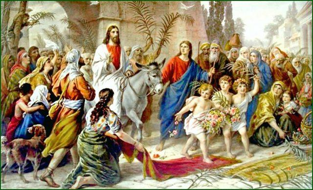 FLORIILE - INTRAREA DOMNULUI HRISTOS IN IERUSALIM